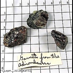 Minerals Specimen: Almandine Garnet with Hornblende from Gore Mountain Mine, North River, Warren Co,  New York