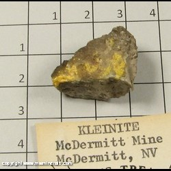 Minerals Specimen: Kleinite from McDermitt Mine (Cordero Mine; Old Cordero Mine), Opalite District, Humboldt Co,  Nevada