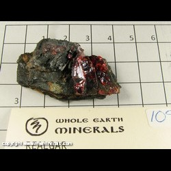 Mineral Specimen: Realgar from Getchell Mine, Humboldt Co,  Nevada