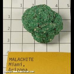 Minerals Specimen: Malachite from Miami, Gila Co,  Arizona