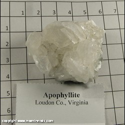 Minerals Specimen: Apophyllite from Loudon Co,  Virginia
