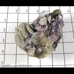 Mineral Specimen: Fluorite, Calcite, Sphalerite from Hardin Co,  Illinois