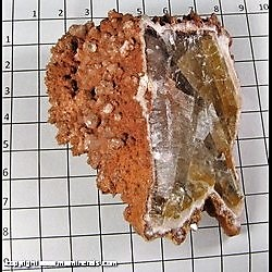 Minerals Specimen: Calcite, 2 Generations from Chihuahua, Mexico