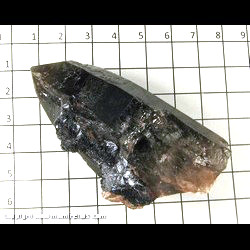 Mineral Specimen: Goethite on Smoky Quartz from Lake George area, Park Co,  Colorado