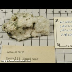 Minerals Specimen: Analcime from Leavitt Meadow (Leavitt Meadows), Mono Co,  California