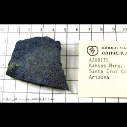Minerals Specimen: Azurite from Kansas Mine, Santa Cruz Co,  Arizona