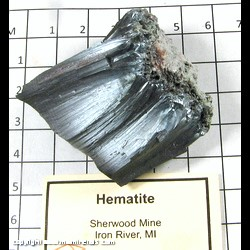 Mineral Specimen: Hematite from Sherwood, Iron River, Iron Co,  Michigan