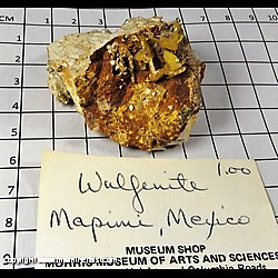 Mineral Specimen: Wulfenite (some broken crystals) from Mapimi, Durango, Mexico