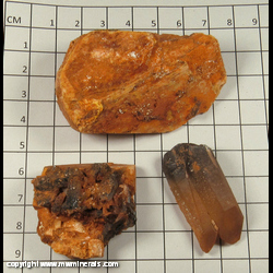 Mineral Specimen: Quartz, Microcline (3 pieces) from Red Cloud Mine, Mineral Co., Nevada