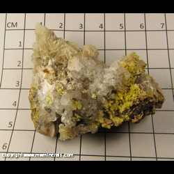 Minerals Specimen: Mimetite and Calcite from Chihuahua, Mexico