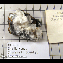 Mineral Specimen: Calcite from Chalk Mountain, Churchill Co., Nevada