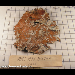 Minerals Specimen: Copper variety: Sheet from Keweenaw Peninsula, Michgain