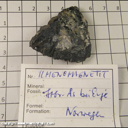 Mineral Specimen: Ilmenite, Magnetite from Norway