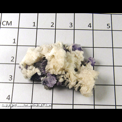 Mineral Specimen: Fluorite, Barite from Hardin Co,  Illinois