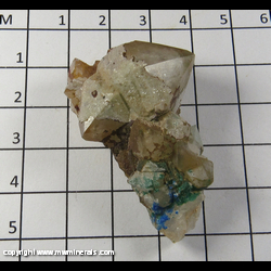 Mineral Specimen: Quartz, Linarite, Brochanite from Blanchard Mine, Bingham, Socorro Co,  New Mexico