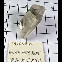 Mineral Specimen: Calcite from White Pine Mine, White Pine, Ontonagon Co., Michigan