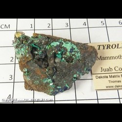 Mineral Specimen: Tyrolite, Malachite, Azurite from Mammoth Mine, Mammoth, Tintic District, East Tintic Mts, Juab Co., Utah