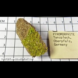 Mineral Specimen: Pyromorphite from Tanzfleck, Freihung, Oberpfalz, Bavaria, Germany