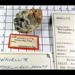 Mineral Specimen: Wavellite from Montgomery, Arkansas