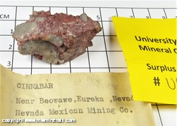 Mineral Specimen: Cinnabar from Beowawe Mining District, Eureka Co., Nevada