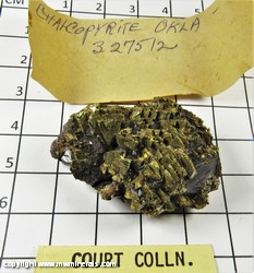 Mineral Specimen: Chalcopyrite from Tri State District, Ottawa Co., Oklahoma