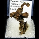 Mineral Specimen: Copper Crystals from Northwestern Mine, Keweenaw Co., Michigan