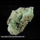Minerals Specimen: Bromargyrite, Cerussite, Malachite from Bob Montgomery Mine, Granite gap, Sa Simon Dist., Hidalgo Co., New Mexico 1-12-02