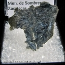 Minerals Specimen: Bornite on Sheet Silver from San Martin Mine, Mun. de Sombrerete, Zacatecas, Mexico