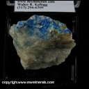 Minerals Specimen: Linarite, Brochanite from Reward Mine, Manzanar Station area, Inyo Mts., Inyo Co., California