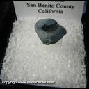 Mineral Specimen: Benitoite from Benitoite Gem Mine, San Benito County, California