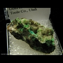 Minerals Specimen: Mixite, Conichalcite from South Pit, Gold Hill Mine, Toole Co., Utah