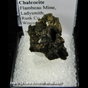 Mineral Specimen: Chalcocite from Flambeau Mine, Ladysmith, Rusk Co., Wisconsin