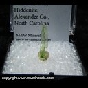 Mineral Specimen: Hiddenite from Adam's Farm, Hiddenite, Alexander Co., North Carolina