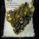 Minerals Specimen: Siderite, Green with Mica from Wake Co., North Carolina Ex. Neely circa 1960