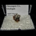 Mineral Specimen: Copper, Barite from White Pine Mine, White Pine, Ontonagon County, Michigan