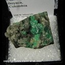 Mineral Specimen: Emerald, Calcite from Chivor Mine, Boyaca, Colombia