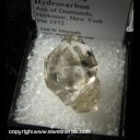 Minerals Specimen: Herkimer Diamonds with included Hydrocarbon from Ace of Diamonds, Herkimer, New York Pre-1972