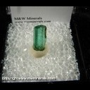 Minerals Specimen: Emerald (not terminated) 2.32 ct. from Colombia