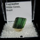 Mineral Specimen: Tourmaline (gemmy, not terminated) from Minas Gerais, Brazil