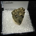 Minerals Specimen: Pyrite (massive) from Brekenridge, Summit Co., Colorado