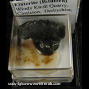 Mineral Specimen: Elaterite - a  branched polythene bitumen with sulfur from Windy Knoll Quarry, Castleton, Derbyshire, England (first record location)