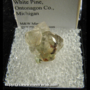 Mineral Specimen: Calcite from White Pine Mine, White Pine, Ontonagon County, Michigan