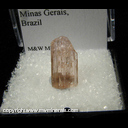 Mineral Specimen: Topaz, Imperial (pink tint) from Ouro Preto, Minas Gerais, Brazil