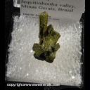 Mineral Specimen: Epidote with Unidentified Mineral from Capelinha, Jequitinhonha valley, Minas Gerais, Brazil