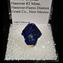 Minerals Specimen: Azurite Crystal from Hanover #2 Mine, Hanover-Fierro District, Grant Co., New Mexico Ex. Steve Pullman