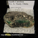 Mineral Specimen: Emerald, Biotite from Crabtree Mine, Mitchell Co., North Carolina Ex.A. Neely, 1960s
