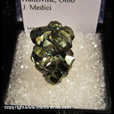 Minerals Specimen: Pyrite, Diploid Crystals from Duff Quarry, Huntsville, Ohio J. Medici