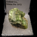 Mineral Specimen: Tourmaline from Oxford Co., Maine Prior to 1972