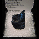 Mineral Specimen: Covellite, Chalcopyrite from Summitville, Rio Grande Co., Colorado