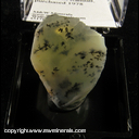 Mineral Specimen: Opal, Dendritic from Brazil, Ex. Vivian Randal, purchased 1978